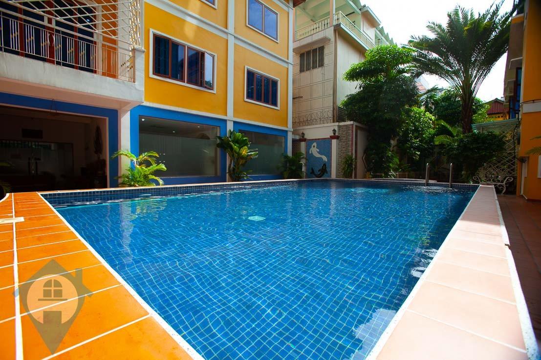 ''Large Terrace 2 Bedroom Apartment For Rent in Daun Penh | Phnom Penh Real Estate''